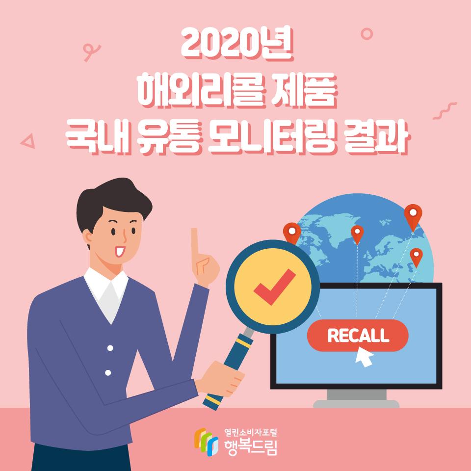 2020년 해외리콜 제품 국내 유통 모니터링 결과