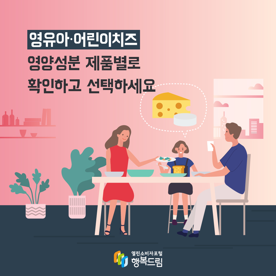영유아·어린이치즈 영양성분 제품별로 확인하고 선택하세요