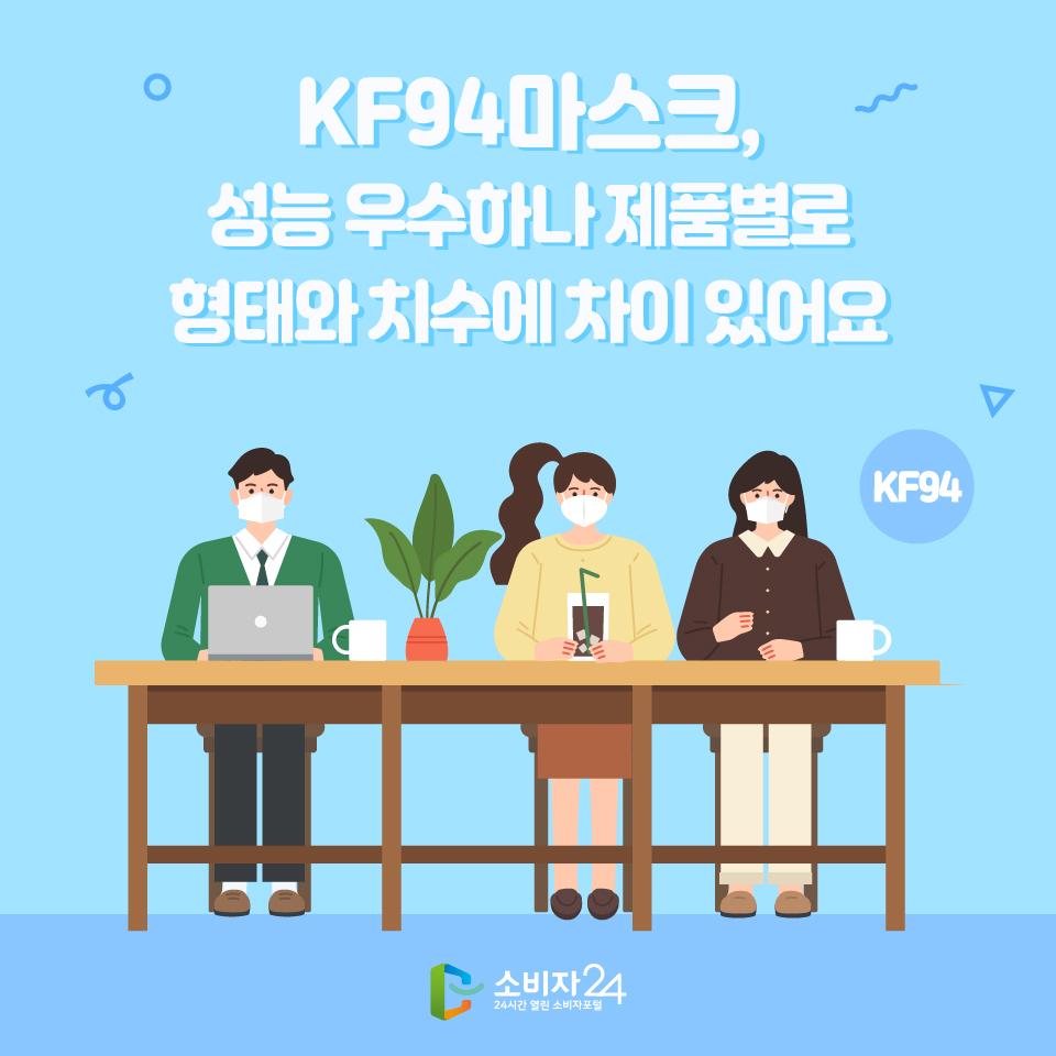 KF94마스크, 성능 우수하나 제품별로 형태와 치수에 차이 있어요